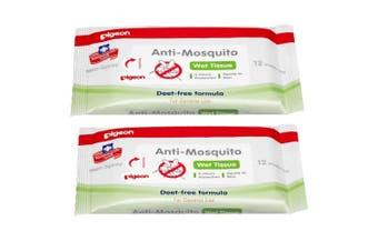 24pc Pigeon Deet-free Anti-Mosquito Wet Wipes/Tissue Gentle/Repellent Baby/Child