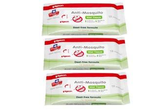 36pc Pigeon Deet-free Anti-Mosquito Wet Wipes/Tissue Gentle/Repellent Baby/Child