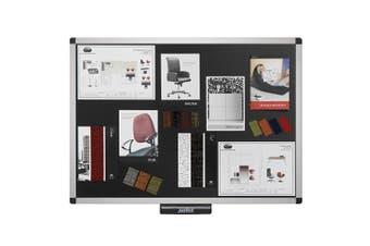 Justick Electro Adhesion 90cm Bulletin/Notice Memo Board/Displays Office Black