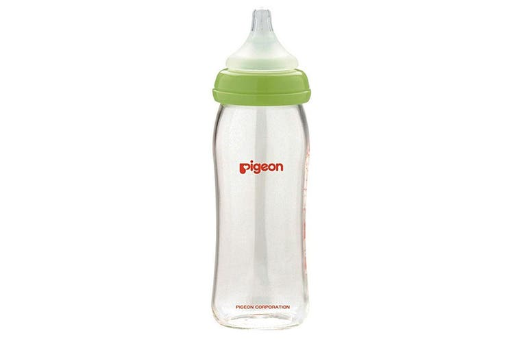 3x Pigeon Softouch Glass Peristaltic Plus Feeding Bottle 240ml M Teat Baby 3m+