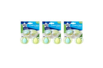 6pc Tommee Tippee Cherry Latex Soothers/Pacifiers/Dummy 0-6m Newborn/Babies