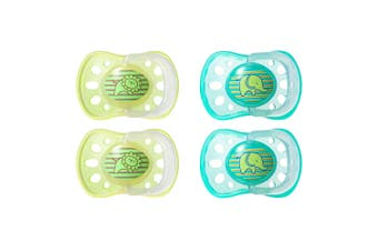 4pc Tommee Tippee Soft Rim Latex Soothers/Pacifiers/Dummy 6-18m Newborn/Babies