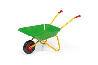 Rolly Metal Wheel Barrow Outdoor Garden Wheelbarrow Kids/Children 3y+ Toy Green