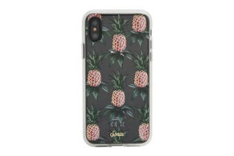 Sonix Transparent Hard Cover Shockproof Case For iPhone X/XS Pink Pineapple