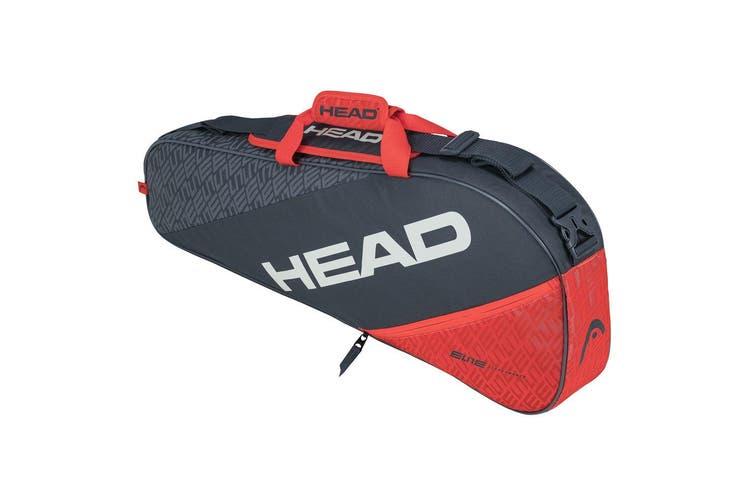 HEAD Elite 3R Pro 75cm Carry Sports Tennis Bag for Racquet/Racket Grey/Orange