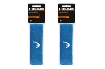 2PK Head Sweat Absorption Sports/Tennis/Squash/Cycling Headband/Head Band Blue