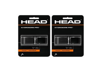 2x Head HydroSorb Touch/Tackiness Pro Replacement Grip f/ Rackets/Racquets Black