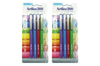8pc Artline 200 Fine 0.4mm School Fineline Drawing/Writing Pen Assorted Colour
