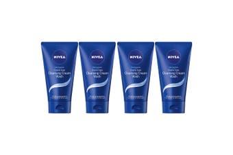 4x Nivea 150ml Daily Essentials Creme Care Cleansing Cream Face Wash f/ All Skin
