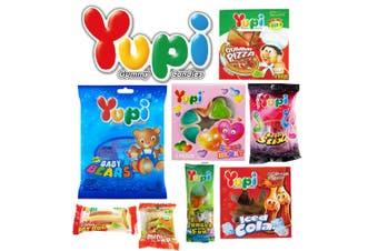 8pc Yupi Gummi Bears Kids Lollies Showbag w/Neon Stix/Baby Bears/Gummy Pizza