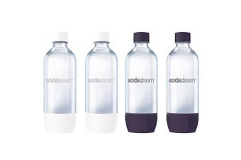 4x SodaStream Carbonating 1L Bottle for Drink Maker Source Metal/Play/Spirit