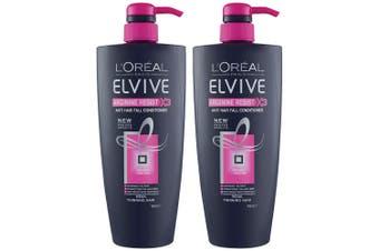 2x Loreal Paris 700ml Elvive Arginine Resist x3 Conditioner Anti Hair Fall Care