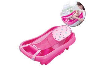 The First Years Newborn to Toddler Bath Tub w/ Sling Baby/Infant Bathing Pink