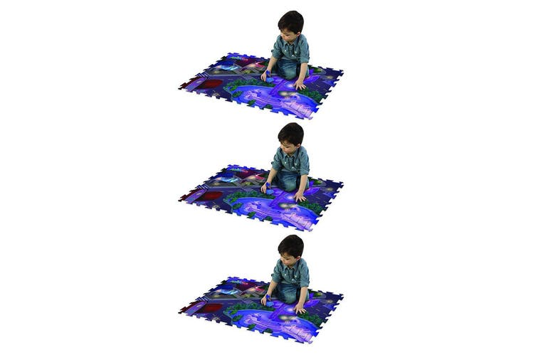 "3x PJ Masks 28"" x 19"" Megamat/Playmat Playset w/ 1 Assorted Vehicle Toy Kids 3y+"