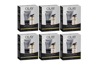 6x Olay Total Effects 7 In 1 Foaming Cleanser 50g + Day Cream Normal SPF 15 12g