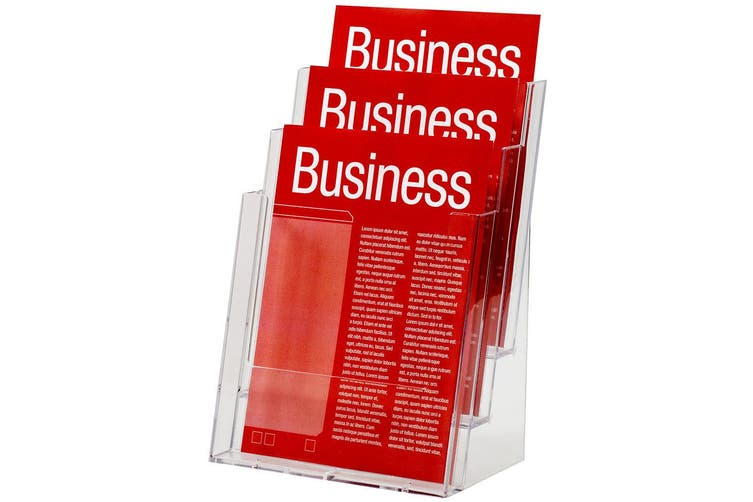 Esselte 23cm A4 3 Tier Counter Brochure/Flyers Display Holder/Case f/ Store