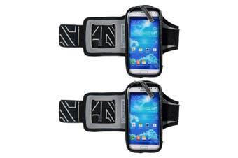 "2PK Allsop ClickGo Armband Sweat Proof Running/Exercise/Sports f/ 5.7"" Phones"