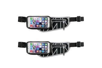 "2PK Allsop ClickGo Running/Gym Water Proof Belt w/Zip Pouch/5.7"" Case For Phones"