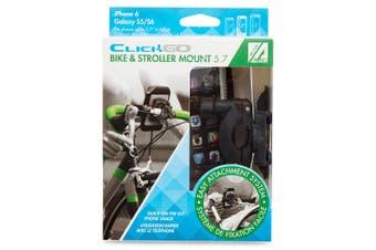 "Allsop ClickGo 5.7"" Smartphones Bike & Stroller Mount/Holders w/ Case/Pouch BLK"