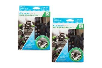 "2x Allsop ClickGo 5.7"" Smartphones Bike & Stroller Mount/Holders w/Case/Pouch BK"