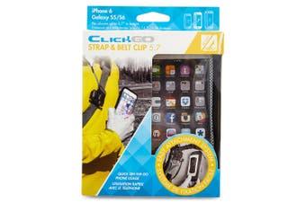 """Allsop ClickGo Strap Belt Clip w/Case for 5.7"""" Smartphones iPhone 6/6S/7/8 Black"""