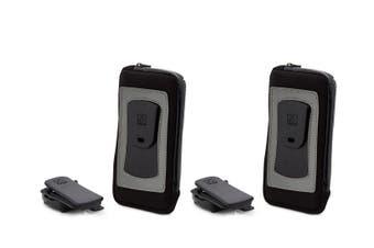 """2x Allsop ClickGo Strap Belt Clip w/Case for 5.7"""" Smartphones iPhone 6/6S/7/8 BK"""