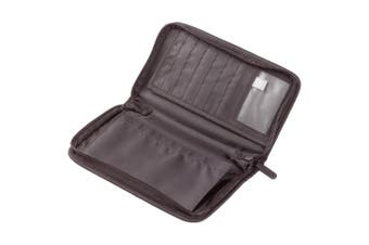 Go Travel Wallet for Passport/Documents/Cards Zipper Purse/Pouch Black