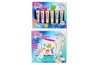 Aqua Dabra Light Up Aquarium Kit 3D Colour Toy & 6pc Paint Refill Set 5y+