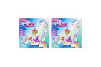 2x 8pc Aqua Dabra Fantasy Kit 3D Paint Toy Magic Water Unicorn/Hat/Key Mould 5y+