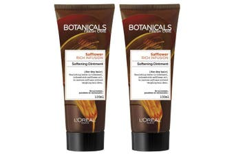 2x Loreal 100ml Botanicals Safflower Rich Infusion Softening Ointment f/Dry Hair