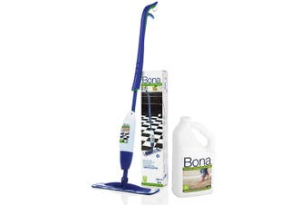 Bona Spray Mop Stone Tile & Laminate Floor Cleaner w 2.5L Refill/850ml Cartridge