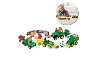 John Deere 24pc Fun On The Farm Play Set/Trucks/Trail/Toy/Kids/Children Game