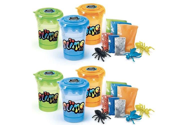 6PK So Slime DIY Craft Slime Shaker Glitter/Powder Maker Toys for Kids/Children