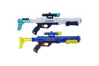 Zuru X Shot Hawk Eye & Ninja Foam Dart Blaster w/ Practice Cans Kids/Boys 8y+
