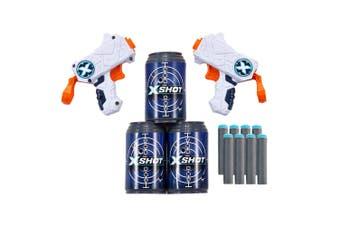 2PK Zuru X Shot Micro Blasters w/ Target Cans/Foam Darts Training Toys Kids 8y+