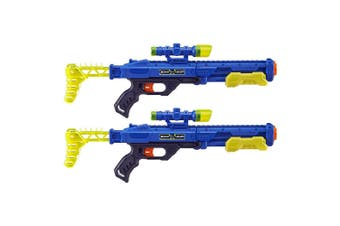 2x Zuru X Shot Ninja Quick Scope Dart Blaster w/ Practice Cans/Tag Kids/Boys 8y+