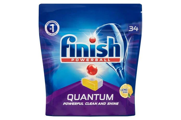 136PK Finish Powerball Quantum Lemon Sparkle Dishwashing Tablets for Dishwasher