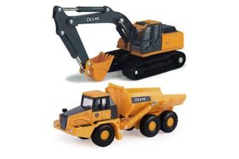 John Deere 1:64 Die-Cast Farm Excavator Vehicle w/ Wheel Loader Kids Toys 3y+