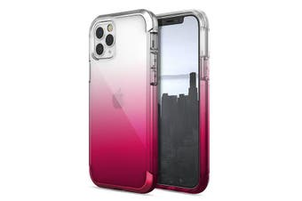 Raptic Air Phone Cover Drop Proof Hard Case for Apple iPhone 12 Pro Raspberry