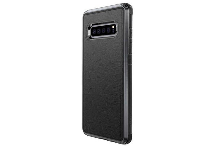 X-Doria Defense Lux Case Cover Drop Protection f/ Samsung Galaxy S10 Leather BLK