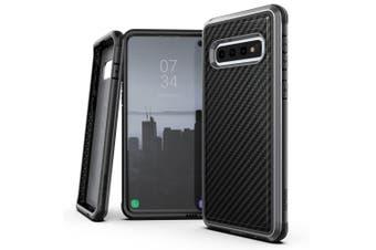 X-Doria Defense Lux Case Cover Protect f/ Samsung Galaxy S10+ Plus Carbon Fiber