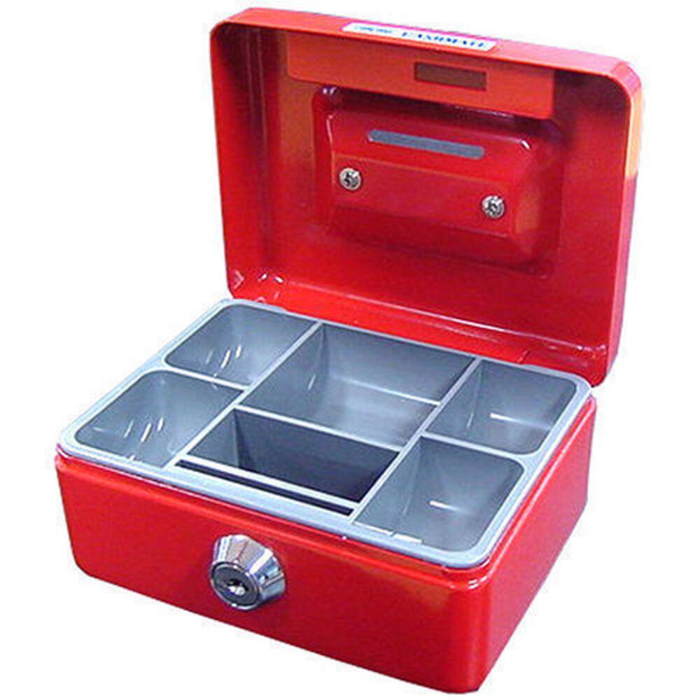 Mini Portable Sturdy Metal Cash Money Box Safe Coins Password Lock Black