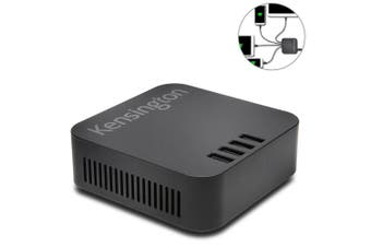 Kensington 2.4A USB Charger/4 Port Charging Hub Station for Smartphones Tablets
