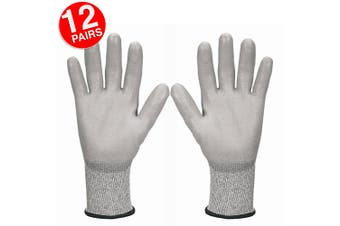 12PK Jackson Size 10/XX Safety Work Gear G60 Level 5 Cut Resistant Gloves Hands