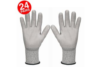 24PK Jackson Size 10/XX Safety Work Gear G60 Level 5 Cut Resistant Gloves Hands