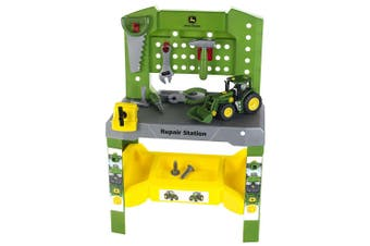 John Deere 75pc Tool Workshop Repair Station w/ Tractor Toy/Game/Fun Kids