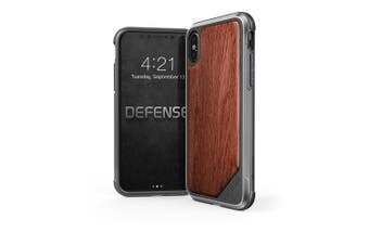 X-doria Defense Lux Tough Cover Shock/Drop Proof Case for Apple iPhone X/Xs Wood
