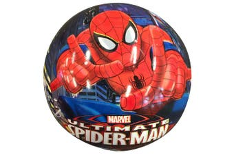 Marvel Spiderman Kids 23cm Inflatable Rubber Ball Playball Outdoor Toy 3+ Blue