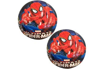 2x Marvel Spiderman Kids 23cm Inflatable Rubber Ball Playball Outdoor Toy 3+ BL
