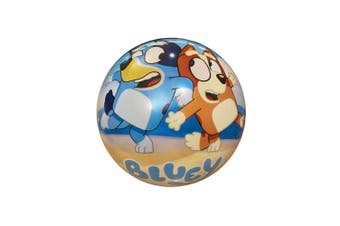 Bluey Kids/Children 23cm Inflatable Rubber Ball Playball Outdoor Toy 3+ Blue